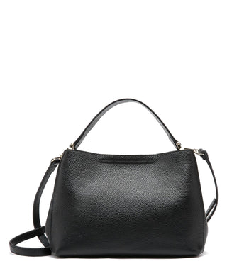 Leather Crossbody Bag - Pebble