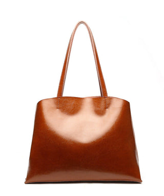 Leather Tote Bag - Moony