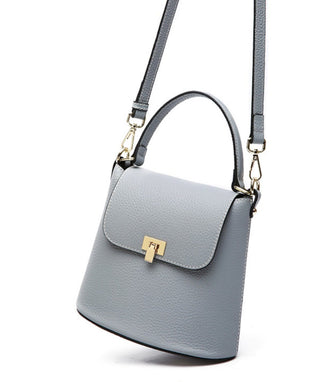 Leather Crossbody Bag - Azure
