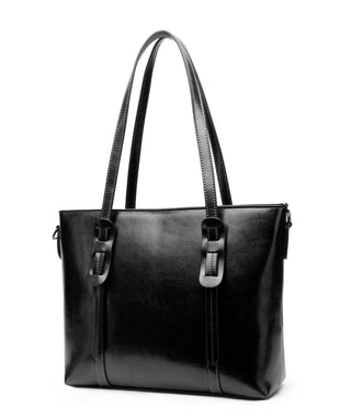 Leather Tote Bag - Ginger