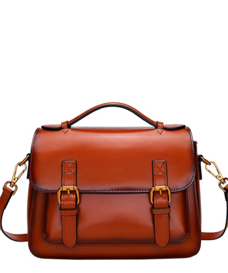 Leather Crossbody Bag - Em