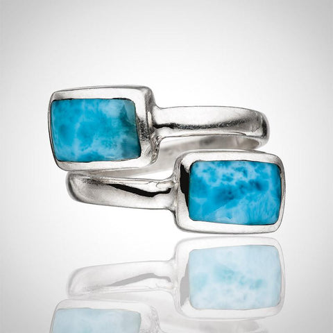 Larimar Bypass Ring - Free Form