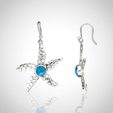 Larimar Earrings - Starfish