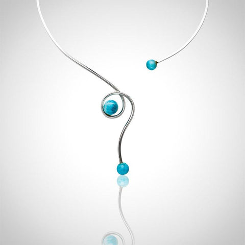 Larimar Necklace - Open Curves