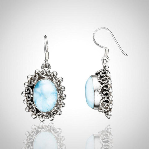 Larimar Earrings - Majestic Elegance