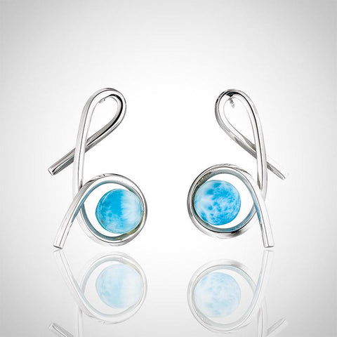Larimar Earrings - Curvy Studs