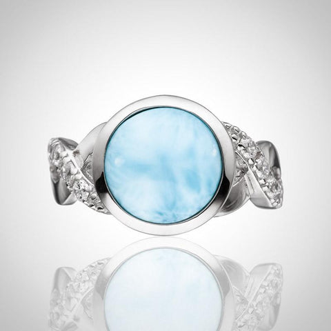 LAURA BONETTI Volcano Allure Collection - Larimar Ring