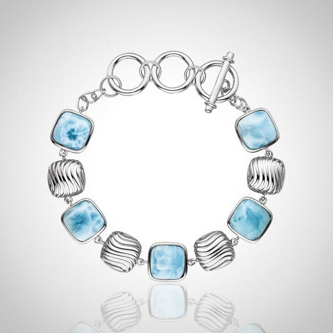 LAURA BONETTI Olas Collection - Larimar Bracelet