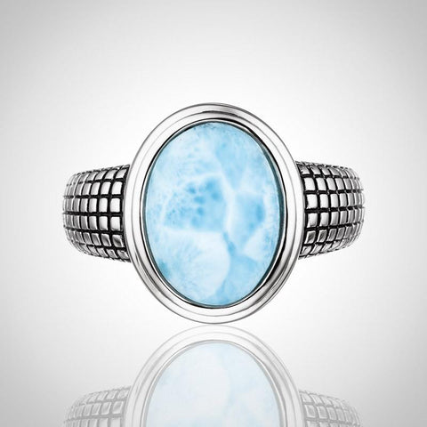 LAURA BONETTI Caribe Collection - Larimar Ring