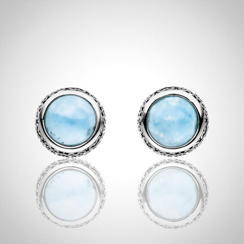 LAURA BONETTI Volcano Allure Collection - Larimar Earrings