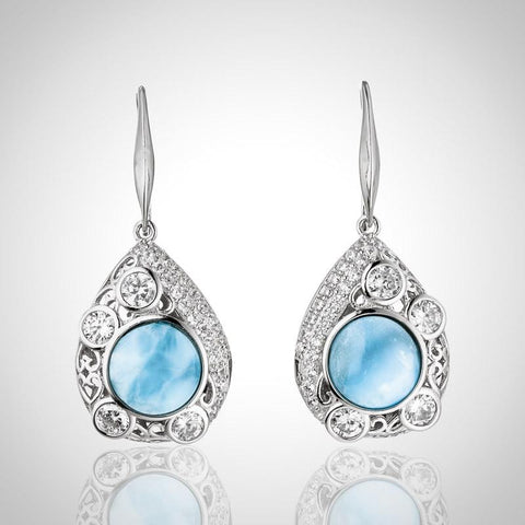LAURA BONETTI Paraiso Collection - Sparkling Larimar Earrings
