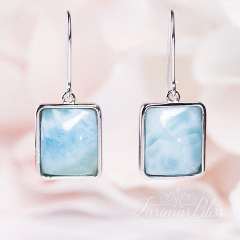 Oval Allure Larimar Earrings