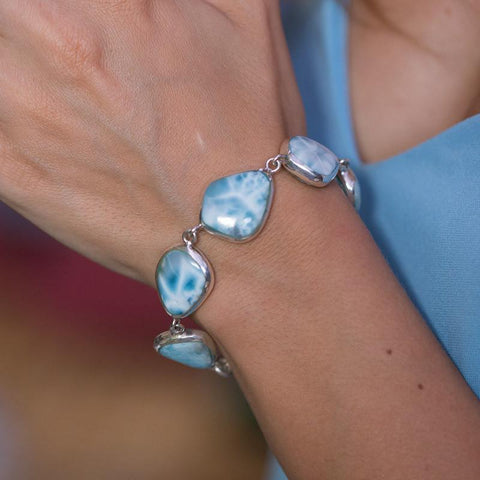 Larimar Bracelet - Two-Sided Sparkle
