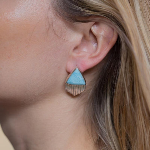 Larimar Earrings - Stylish Triangle