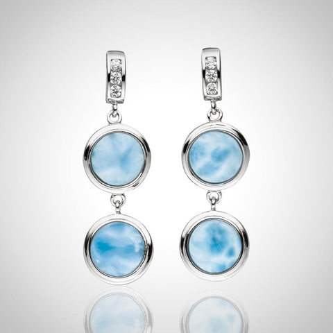 LAURA BONETTI Andrea Collection - Larimar Earrings
