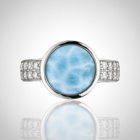 LAURA BONETTI Andrea Collection - Larimar Ring