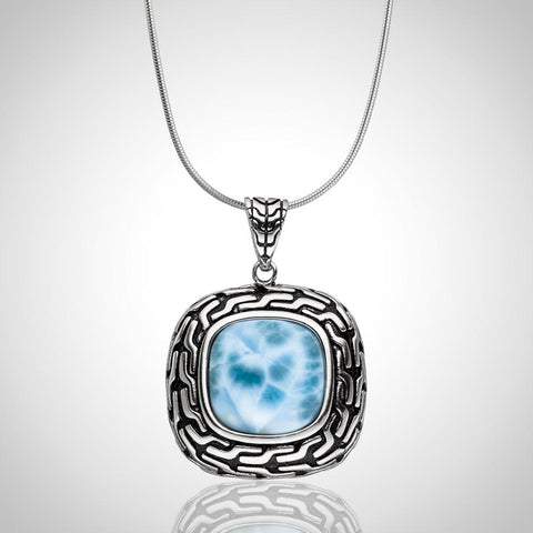 LAURA BONETTI Caribbean Treasure Collection - Larimar Pendant
