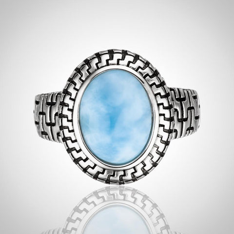 LAURA BONETTI Caribbean Treasure Collection - Larimar Ring
