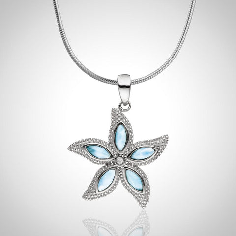 LAURA BONETTI Cruise Memories Collection - Embellished Larimar Starfish Pendant
