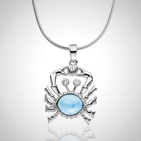 LAURA BONETTI Cruise Memories Collection - Larimar Crab Pendant