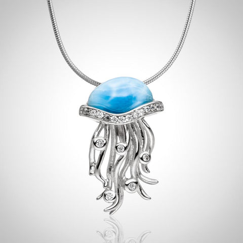 LAURA BONETTI Cruise Memories Collection - Larimar Jellyfish Pendant / Charm