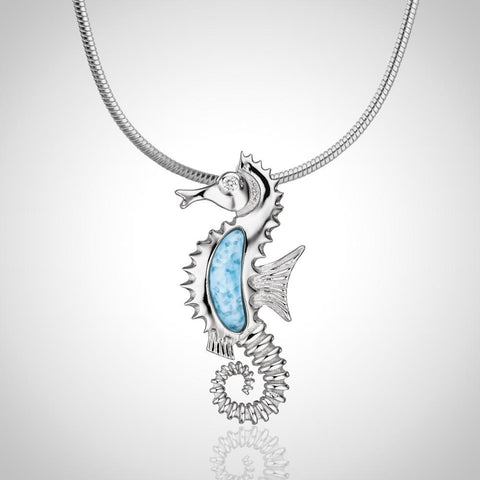 LAURA BONETTI Cruise Memories Collection - Larimar Seahorse Pendant