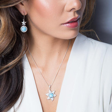 LAURA BONETTI Cruise Memories Collection - Larimar Pendant