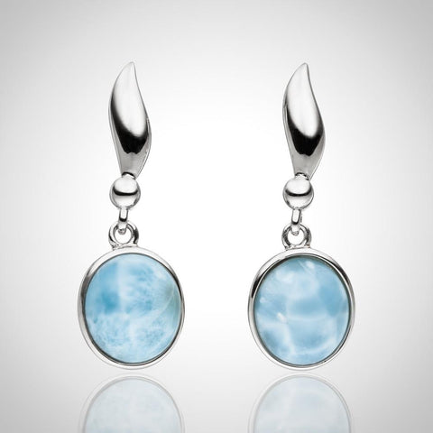 LAURA BONETTI Essentials Collection - Classy Larimar Earrings