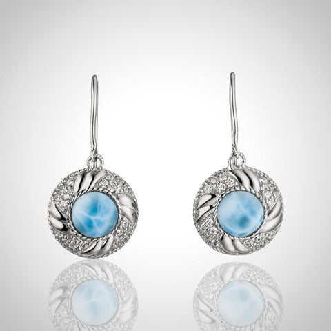LAURA BONETTI Isabella Collection - Larimar Earrings
