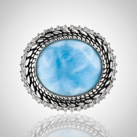 LAURA BONETTI Isabella Collection - Larimar Multi Ring