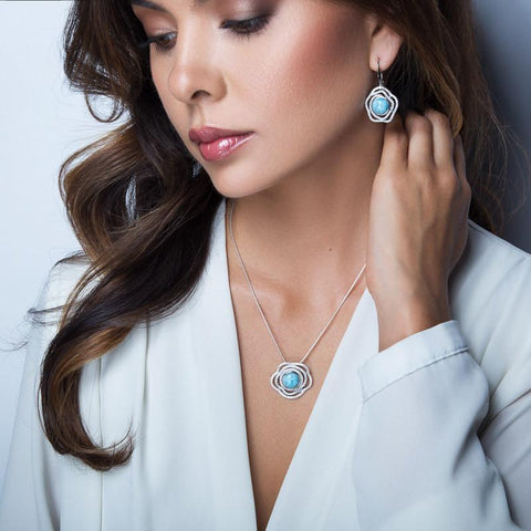 LAURA BONETTI Marcella Collection - Larimar Pendant