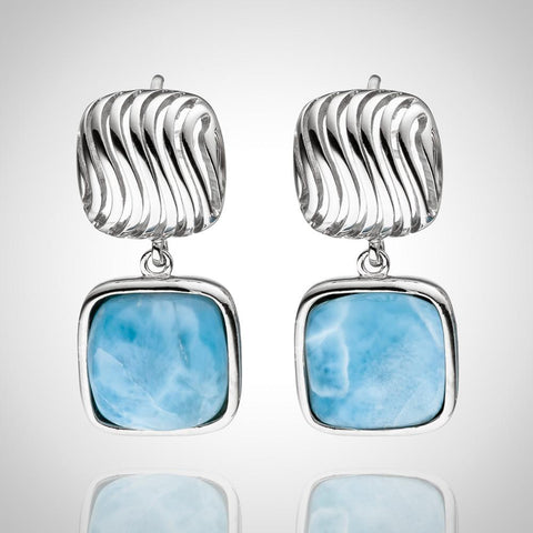 LAURA BONETTI Olas Collection - Larimar Earrings