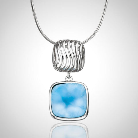 LAURA BONETTI Olas Collection - Larimar Pendant
