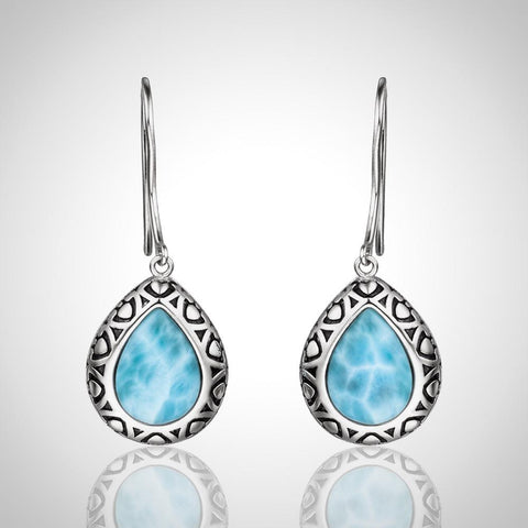 LAURA BONETTI Paraiso Collection - Larimar Teardrop Earrings