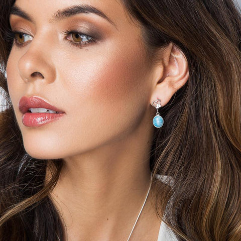 LAURA BONETTI Sea of Love Collection - Larimar Earrings