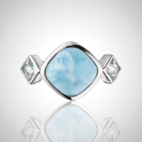 LAURA BONETTI Something Blue Collection - Larimar Ring