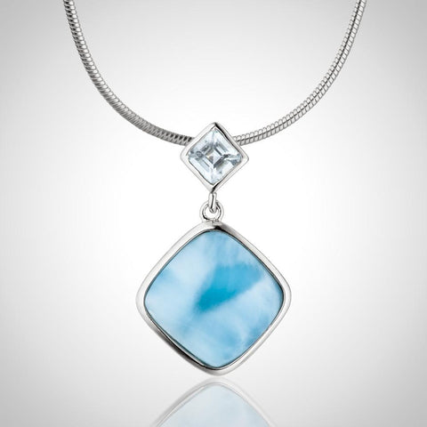 LAURA BONETTI Something Blue Collection - Larimar Pendant With Topaz