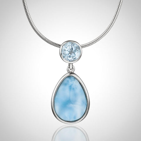 LAURA BONETTI Cruise Memories Collection - Larimar Palm Tree Pendant