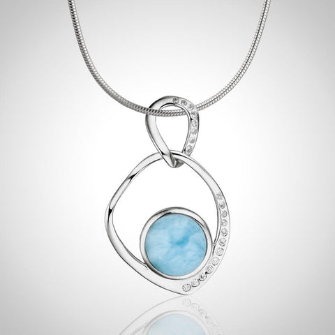 LAURA BONETTI Volcano Allure Collection - Larimar Pendant