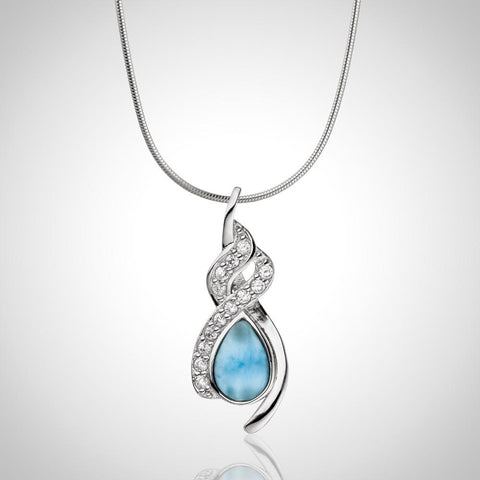 LAURA BONETTI Volcano Allure Collection - Twisted Larimar Pendant