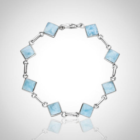 Larimar Bracelet - Petite Rectangle