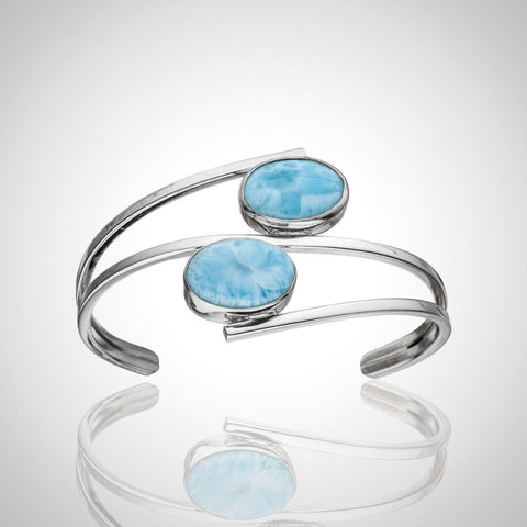 LAURA BONETTI Olas Collection - Round Cut Larimar Bracelet