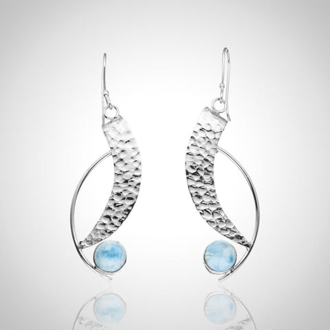 Larimar Earrings - Arty Semi-Circle