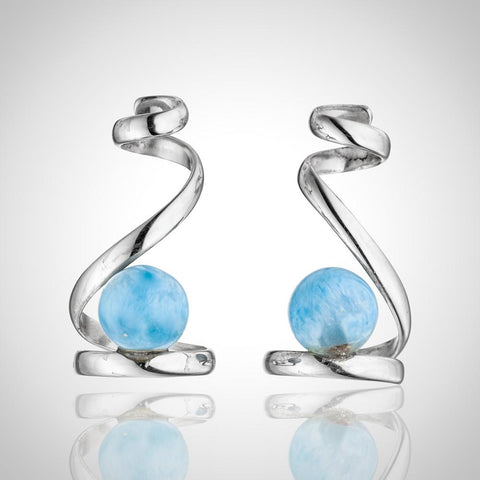 Larimar Earrings - Organic Curves