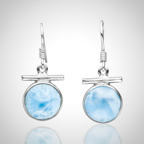 Larimar Earrings - Delicate Roundness