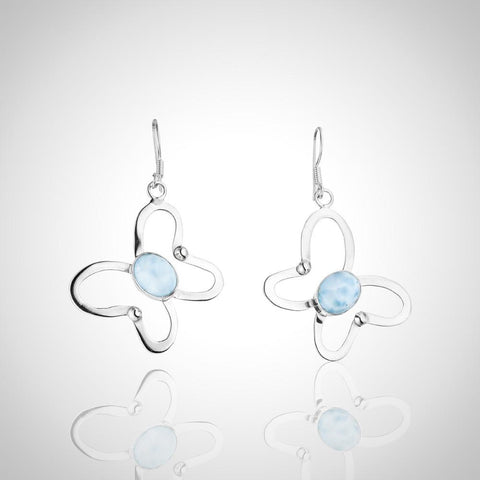 Larimar Earrings - Embellished Butterfly