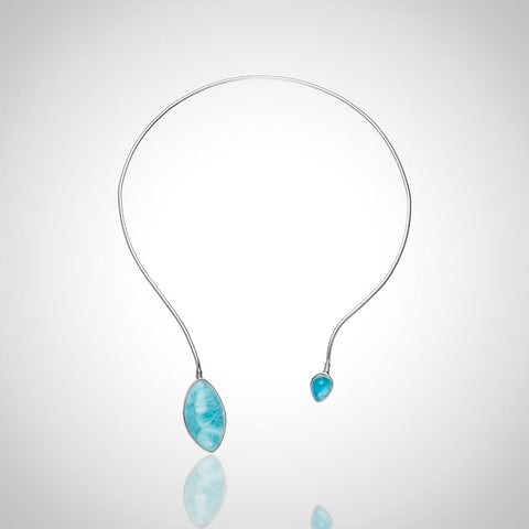 Larimar Necklace - Open Chic