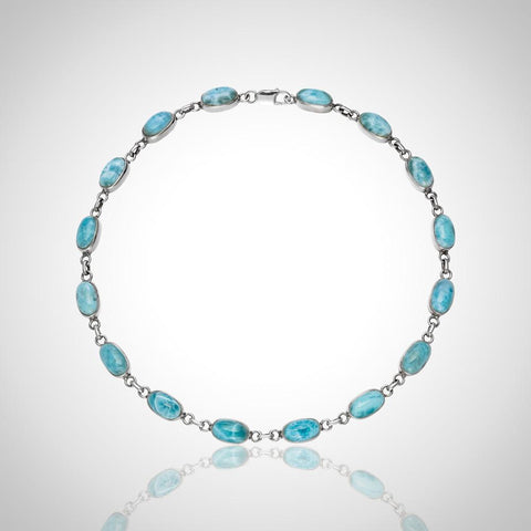 Larimar Necklace - Oval Infinity