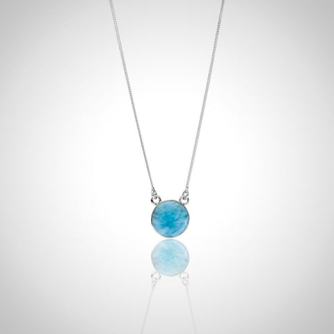 Larimar Necklace - Simple Elegance