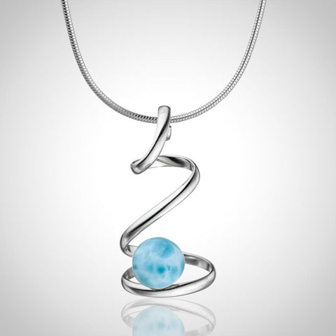 Larimar Pendant - Dangled Shine